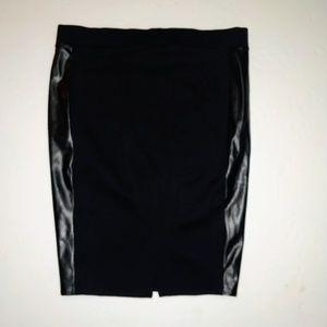 Torrid NEW Plus 1 1X Black w/ Leather Pencil Skirt